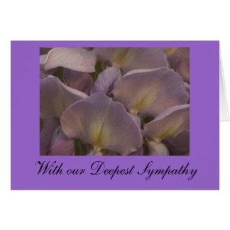 Cartão de simpatia de Wysteria