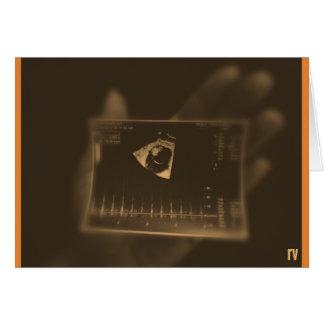 Cartão de simpatia do aborto