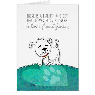 Cartão de simpatia do cão - os corações de amigos