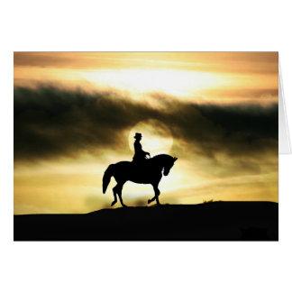 Cartão de simpatia do cavalo do cavaleiro do
