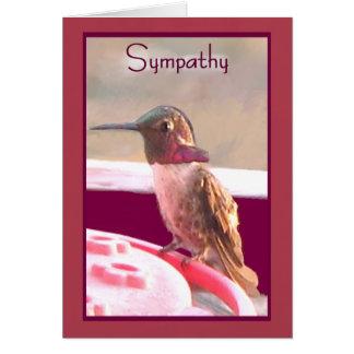 Cartão de simpatia do colibri do deserto