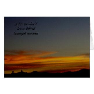 Cartão de simpatia do por do sol