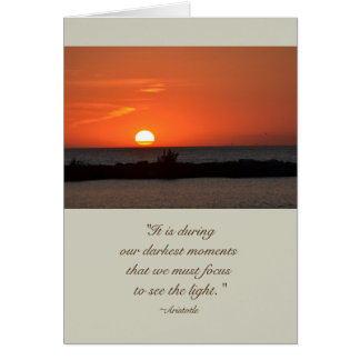 Cartão de simpatia do por do sol das citações de