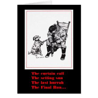 Cartão de simpatia do sapador-bombeiro