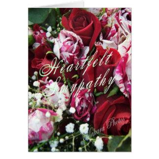 Cartão de simpatia dos rosas do Peppermint