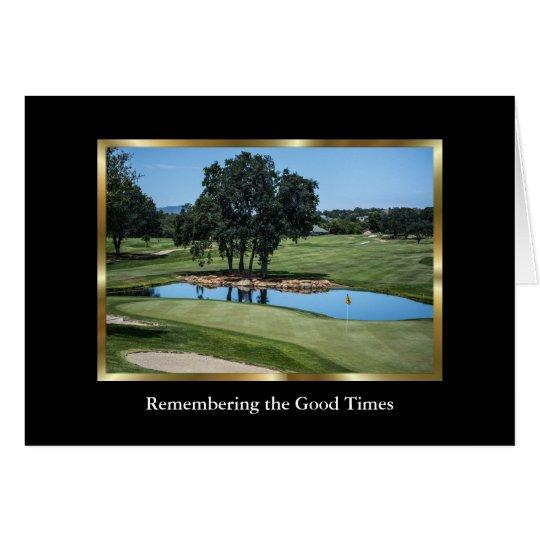 Cartão de simpatia elegante do campo de golfe para