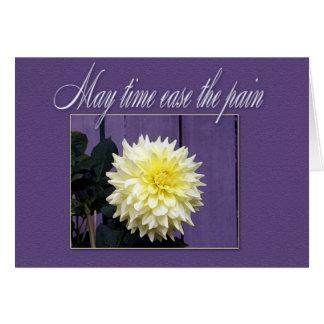 Cartão de simpatia floral simples