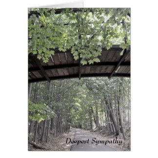Cartão de simpatia frondoso da ponte