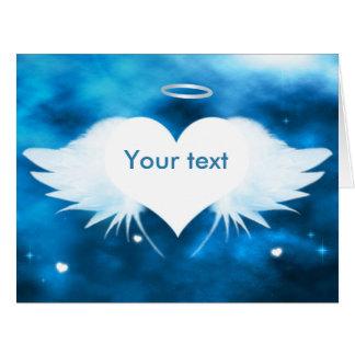 """Cartão de simpatia grande 11"""" x 8,5"""" - anjo do"""