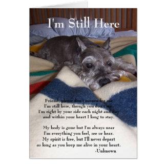 Cartão de simpatia para a perda de animal de