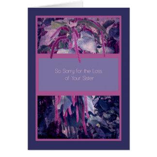 Cartão de simpatia para a perda de irmã em flores