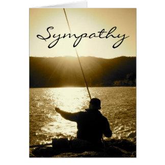 Cartão de simpatia para o homem que amou pescar
