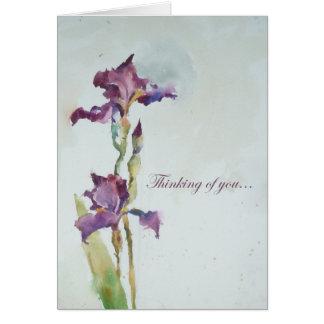 Cartão de simpatia roxo da íris