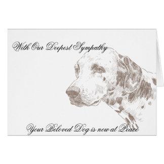 Cartão de simpatia veterinário para o proprietário