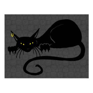 Cartão de solo do gato do ataque