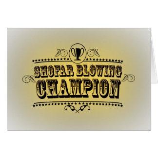 Cartão de sopro do campeão do Shofar