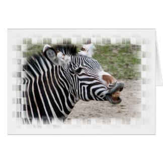 Cartão de sorriso da zebra
