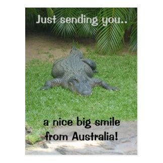 Cartão de sorriso do crocodilo