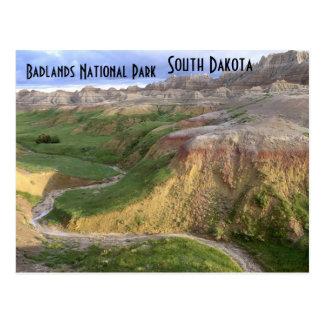 Cartão de South Dakota do parque nacional do ermo