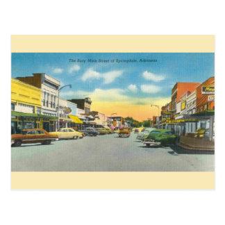 Cartão de Springdale Arkansas do vintage