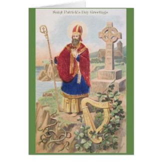 Cartão de St Patrick do vintage