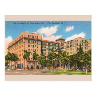 Cartão de St Petersburg FL do hotel de Soreno do