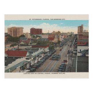 Cartão de St Petersburg Florida do vintage