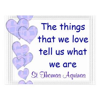 Cartão de St Thomas Aquinas