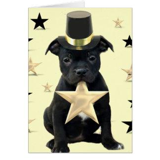 Cartão de Staffordshire bull terrier