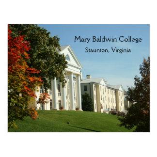 Cartão de Staunton VA Virgínia da faculdade de