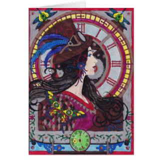 Cartão de Steampunk 10 - personalize