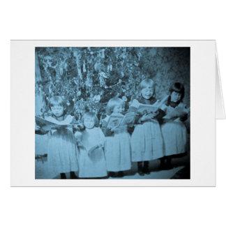 Cartão de Stereoview da canção de natal do natal