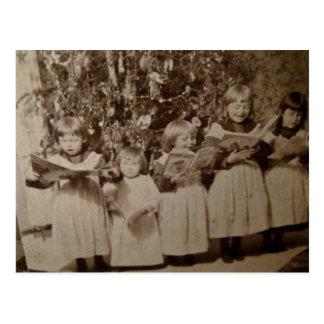 Cartão de Stereoview da canção de natal do natal Cartão Postal