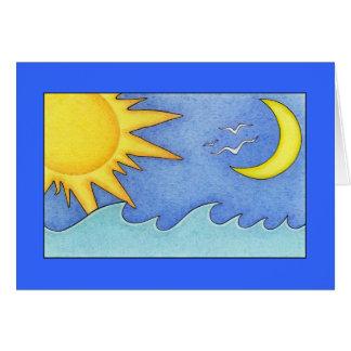 Cartão de Sun & de feriado da lua