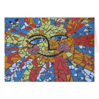Cartão de Sun do mosaico