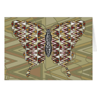 Cartão de Swallowtail do africano