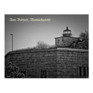 Cartão de Taber do forte de New Bedford