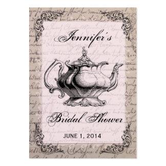 Cartão de Tag do favor do chá de panela do bule do