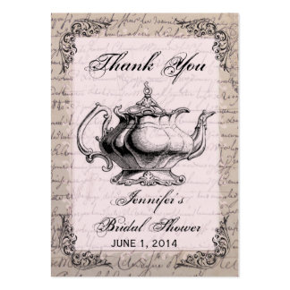 Cartão de Tag do favor do chá de panela do bule do Cartoes De Visitas