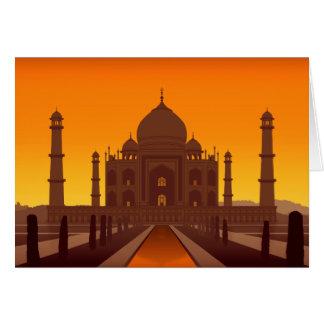 Cartão de Taj Mahal
