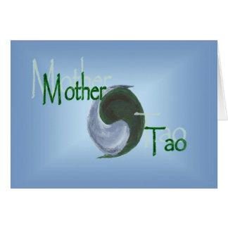 Cartão de Tao Yin Yang da mãe