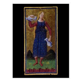 Cartão de Tarot da moderação Cartão Postal