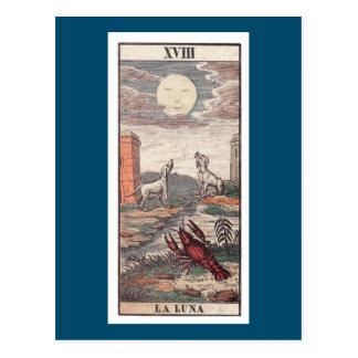 Cartão de tarot de luna do La Cartão Postal