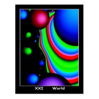 Cartão de Tarot do mundo