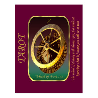 Cartão de Tarot - roda da fortuna Cartão Postal