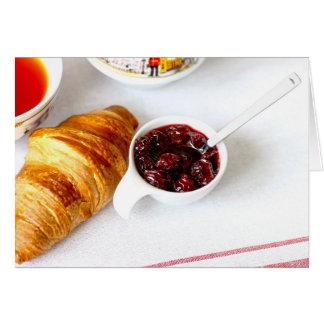 Cartão de tempo do pequeno almoço