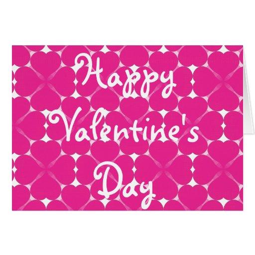 Cartão de teste padrão cor-de-rosa do coração do d