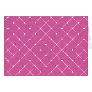 Cartão de teste padrão do diamante