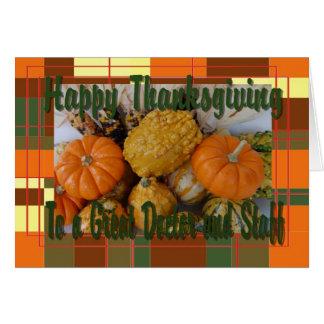 Cartão de Thankgiving para o doutor e os