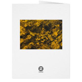 Cartão De tinta preta no fundo amarelo